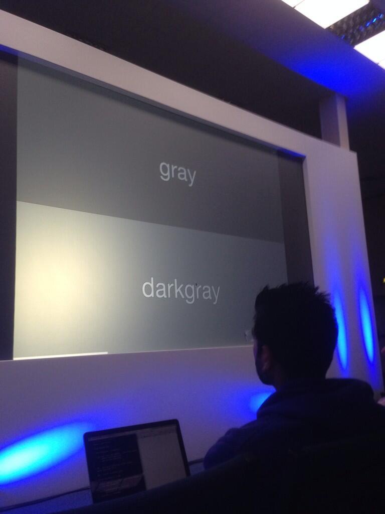 Gray, dark gray