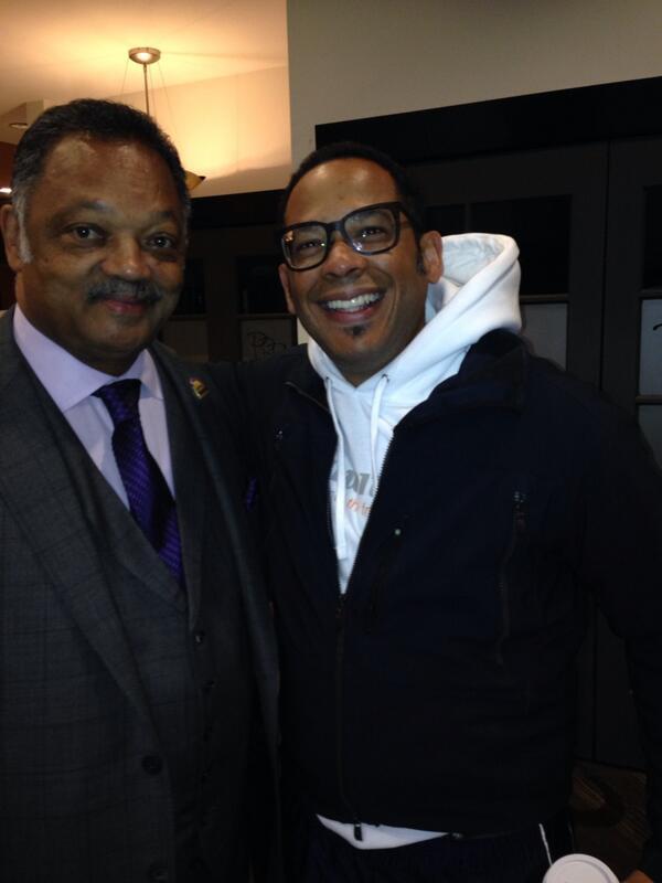 Just bumped into Rev. Jesse Jackson! #MySharkTankJourney http://t.co/sBfRF7WUkQ