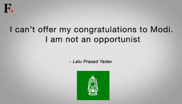 Here's what RJD's Lalu Prasad Yadav has to say #Verdict2014 http://t.co/qbJ2MteS5i http://t.co/BEDic4L2fG