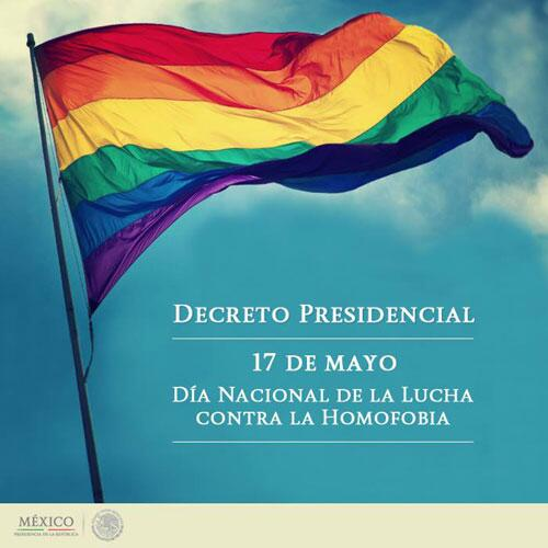 Following a Presidential decree, Mexico celebrates today the National Day Against Homophobia http://t.co/QgSzMlliy9 #IDAHOT #MxSinHomofobia