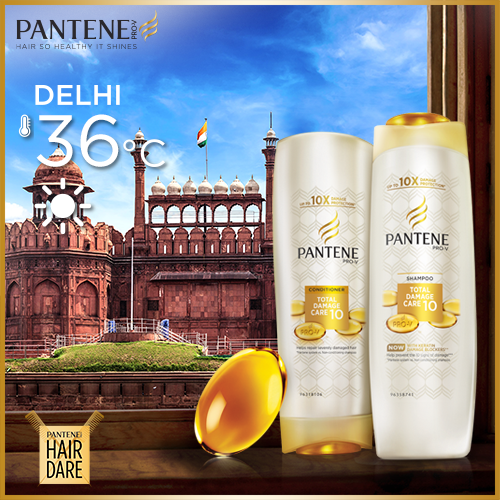 Protect your hair from the crazy heat this summer with Pantene's up to 100% damage protection. Take our #HairDare! http://t.co/yss0YnWex9