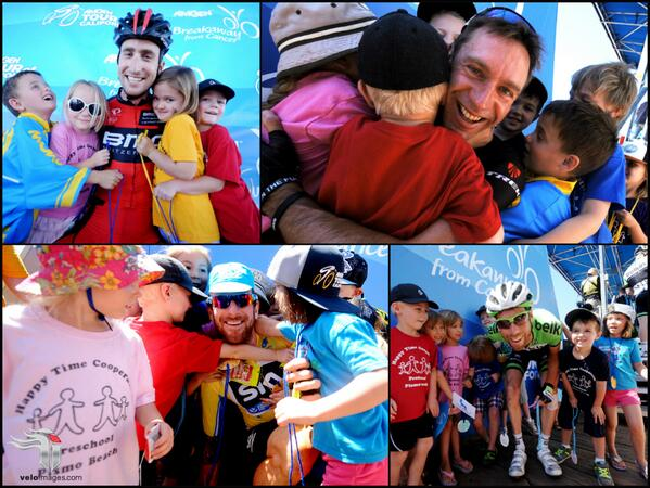 Racing @AmgenTourofCali is fun with @thejensie @taylorphinney @bradwiggins @laurenstendam and little fans. #ATOC2014 http://t.co/8awUHEOt5M