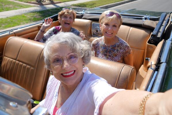3 golden sisters on twitter watch us drive a low rider car and