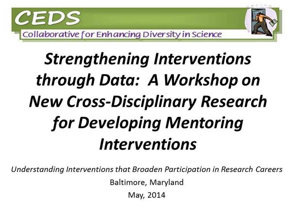 "Today our Dir of #ProfDev George Wimberly is presenting at ""Understanding Interventions"" w/ COSSA colleagues! http://t.co/71cv8aFWp7"