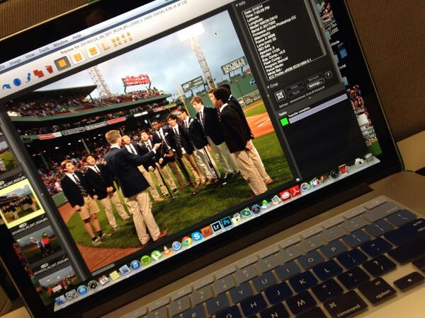 Quick pre-game ceremonies edit before heading back out to the park! http://t.co/FsR17Z34BN