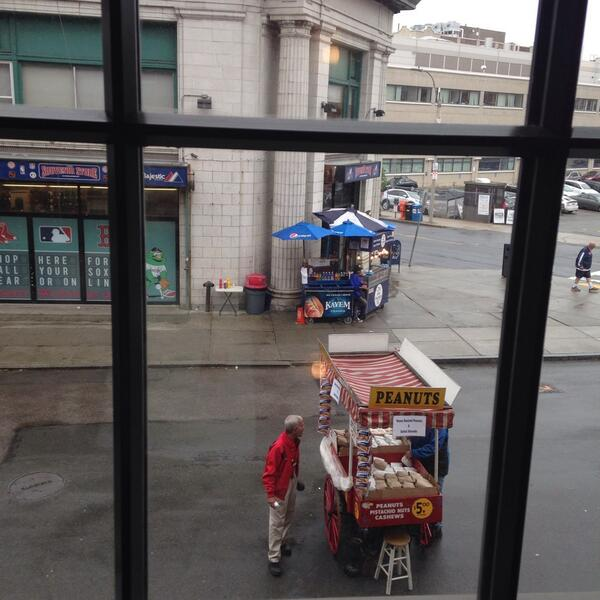 Prep at #Fenway starts earlier than you may think! #Yawkey vendors are almost ready to go! http://t.co/u3m4H84Mgh