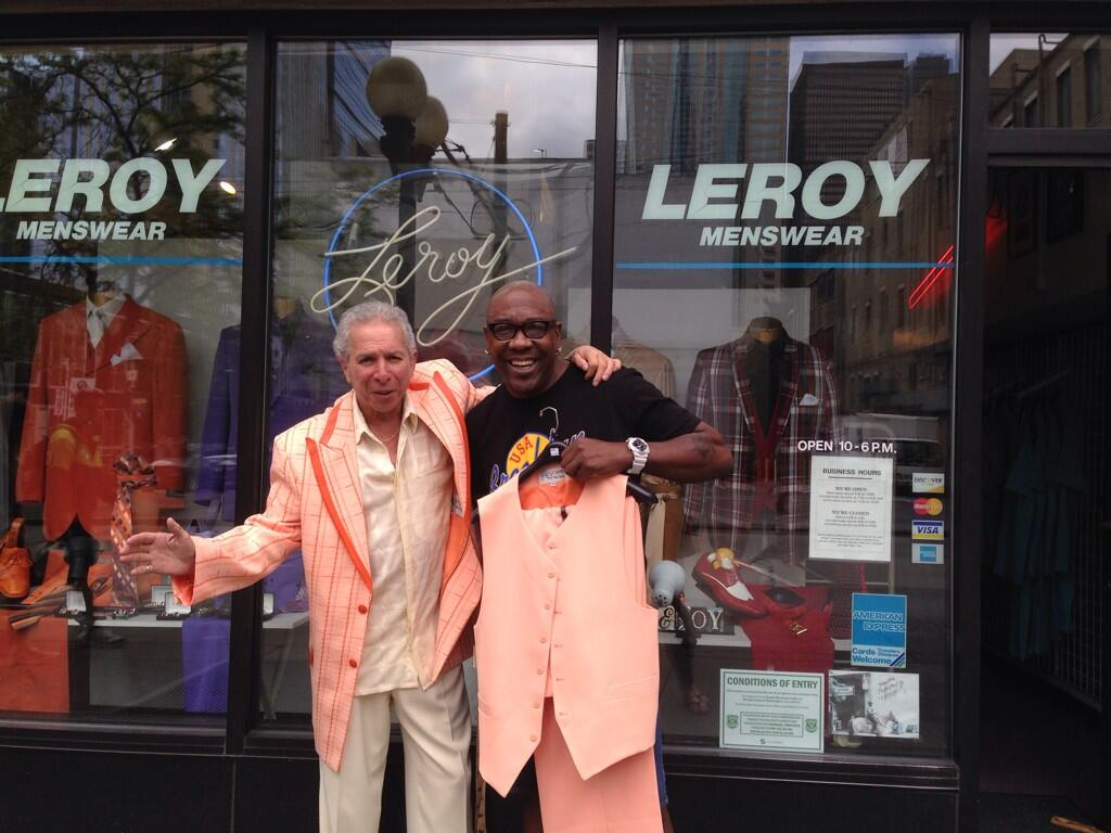 Wanz with Leroy and his Creamsicle suit from