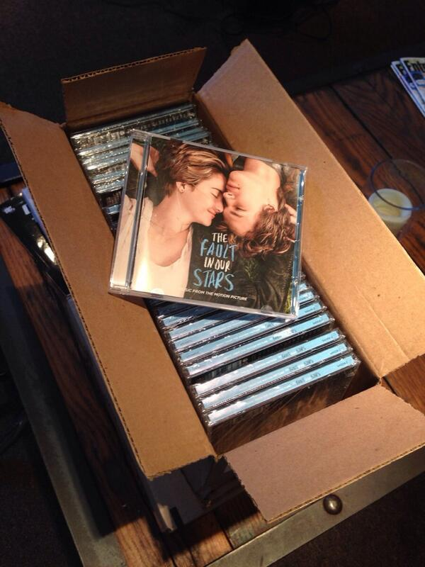 Look what arrived in my office! Available Tuesday! #TFIOSmusic @realjohngreen @JoshBooneMovies @wyckgodfrey http://t.co/FpQataybCJ