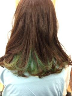 Kii On Twitter かわいいインナーグラデーション緑 水色 お客様