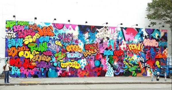 Cope2 rocks Houston Bowery wall NYC @Complex_Art  @WoosterSocial  @Madonna http://t.co/2A4lI4AmG2