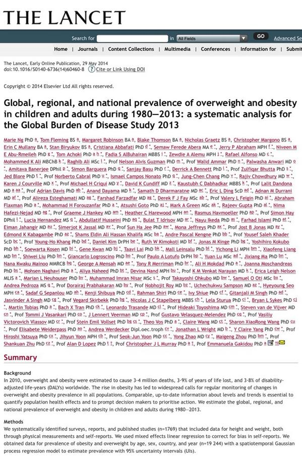 The Lancet Pa Twitter Nearly One Quarter Of The World S Children Are Overweight Read Our Obesity Paper Here Http T Co Kwl2kg8iiv Http T Co Swzvvi937e