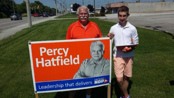 "David M Tanovich on Twitter: ""My son Evan canvassing with @PercyHatfield today in Tecumseh http://t.co/YHRjPLDbfj"""