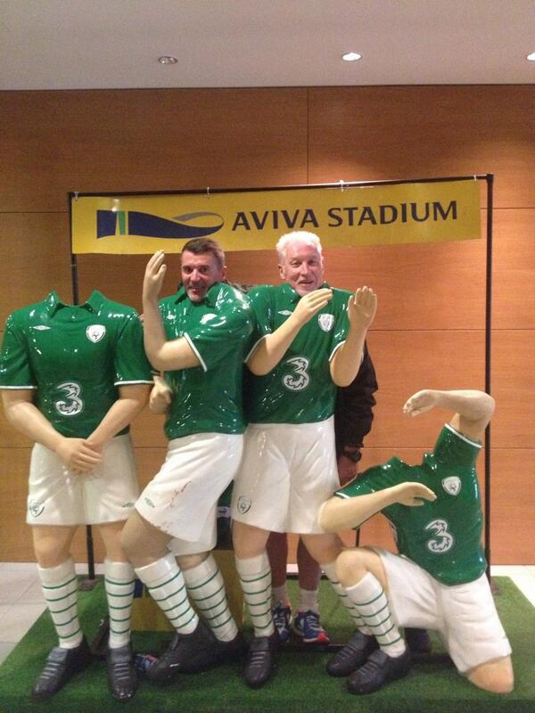 Hard Man? Ireland Number 2 Roy Keane takes fun photo at the Aviva Stadium