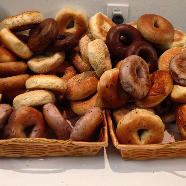 Hello Heaven Rt Enews Theres No Better Way To Start The Day Than With A Mountain Of Bagels Factpic Twitter Com Sheudondsa
