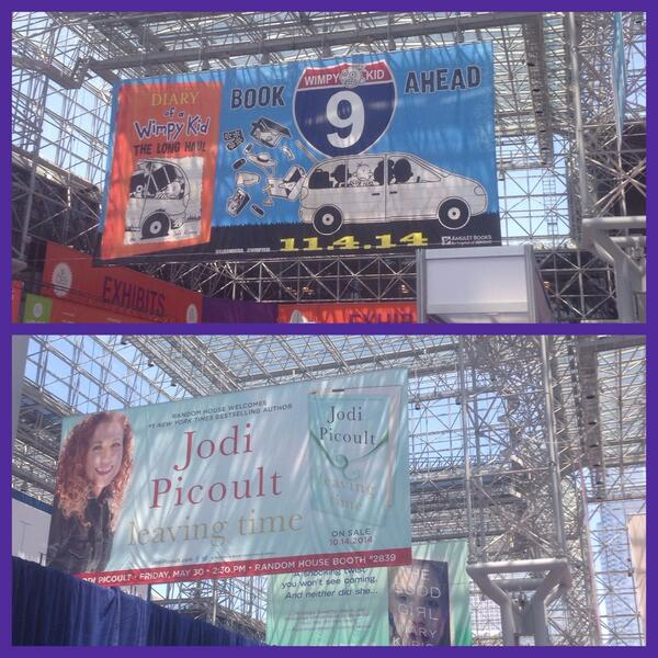 Thought @ArmchairBEA might like seeing books hang from the rafters at #BEA2014 :-) http://t.co/8obwrTGPMQ