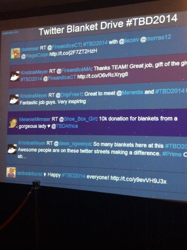 Awesome vibe at #TBD2014 #TwitterBlanketDrive @TBDAfrica http://t.co/ac36BWzltx
