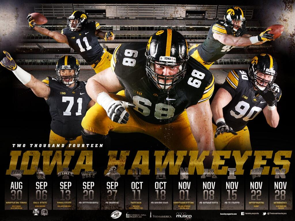 "hawkeye football on twitter: ""here's the final product for the 2014"