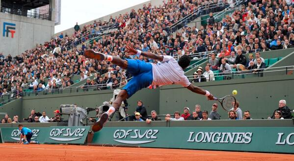 I Believe I can fly RT @rolandgarros: Vintage @Gael_Monfils. Caption it, won't you? #RG14 http://t.co/ATvGk257Qp