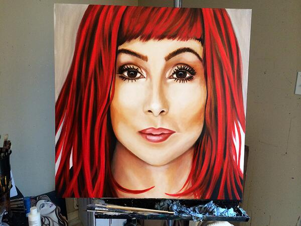 @janelski12 I finally finished my Cher painting... http://t.co/tOTdbug4ox