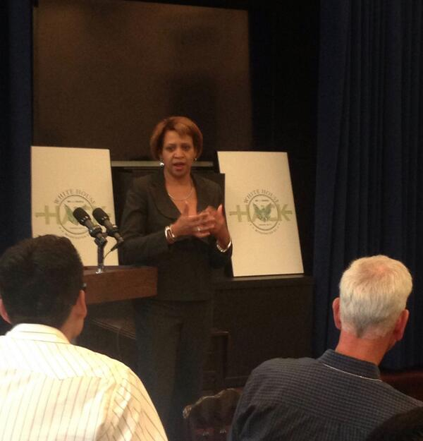 CIO Karen Britton kicks off the #WHHackathon demo session http://t.co/qRm9U2UQqC