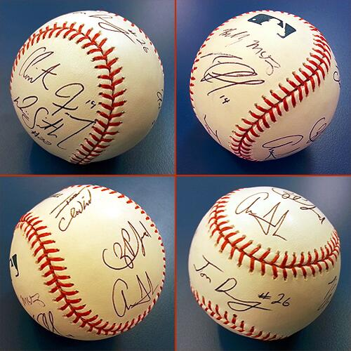 Followers to RETWEET this will be entered to win this ball signed by the nine players who attended the 2013 #MLBDraft http://t.co/w59OEdW0mh