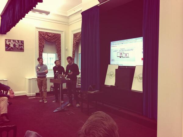 Presentations of some great projects on @wethepeople at #WhiteHousehackathon @civichackingday @WHWeb http://t.co/y0wz8EDf6F