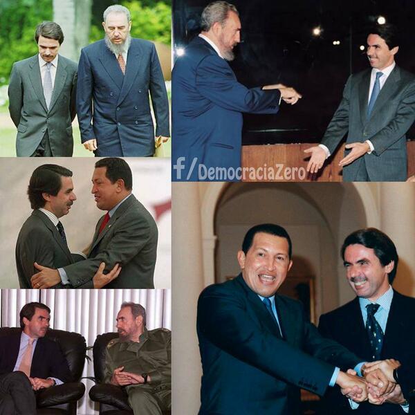 Fotos d Pablo Iglesias sin coleta demuestran su relación cn Chávez y Castro #InventaUnaMentiraSobrePabloIglesias http://t.co/wRUqHumqPA