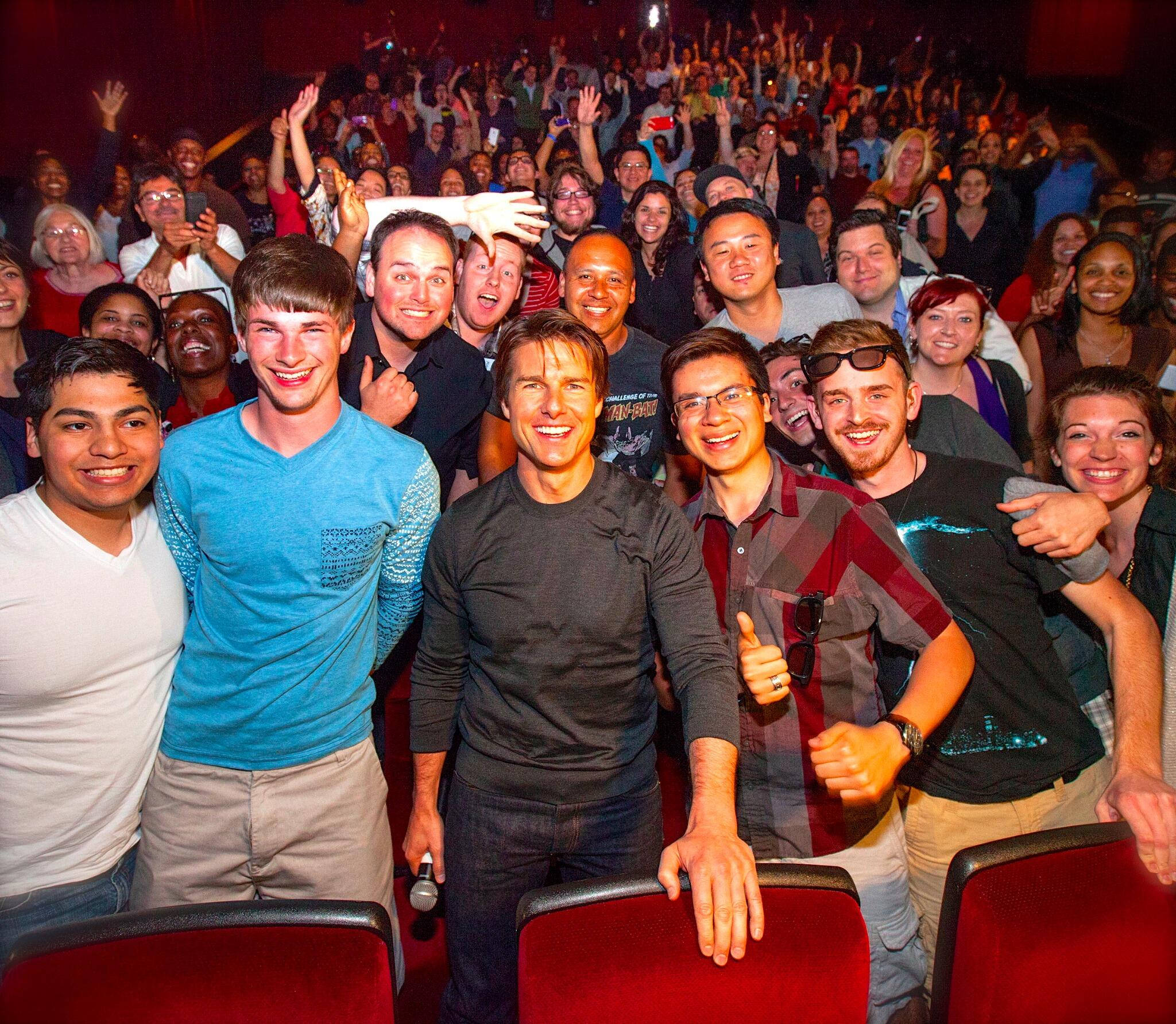 Twitter / TomCruise: So much energy in the theater ...