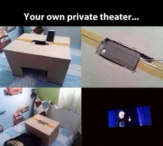 Friday Funny: Your very own private theater. http://t.co/6NaAI2kiqh
