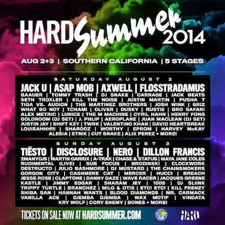 Hard Summer 2014 | Lineup | Tickets | Prices | Dates | Video | News | Rumors | Mobile App | Los Angeles | Hotels
