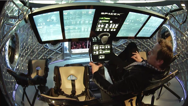 Wow the inside of the #DragonV2 looks like the future. Yay space! @SpaceX http://t.co/Fe9NoNA4EA