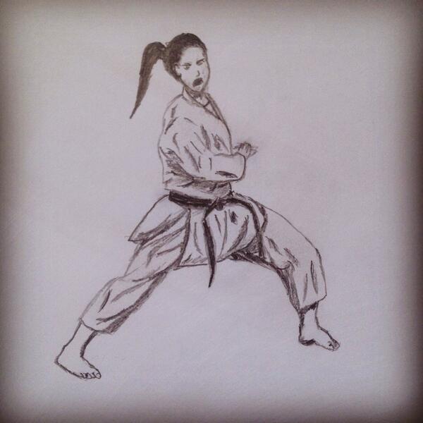 Bashar Al Sallakh On Twitter Karate Girl Pencil Drawing Shading Art Martialarts Http T Co Lawu0mqeo4