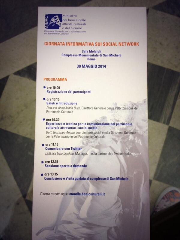 Il programma di #MibactSocial http://t.co/iUp9jAfmxf
