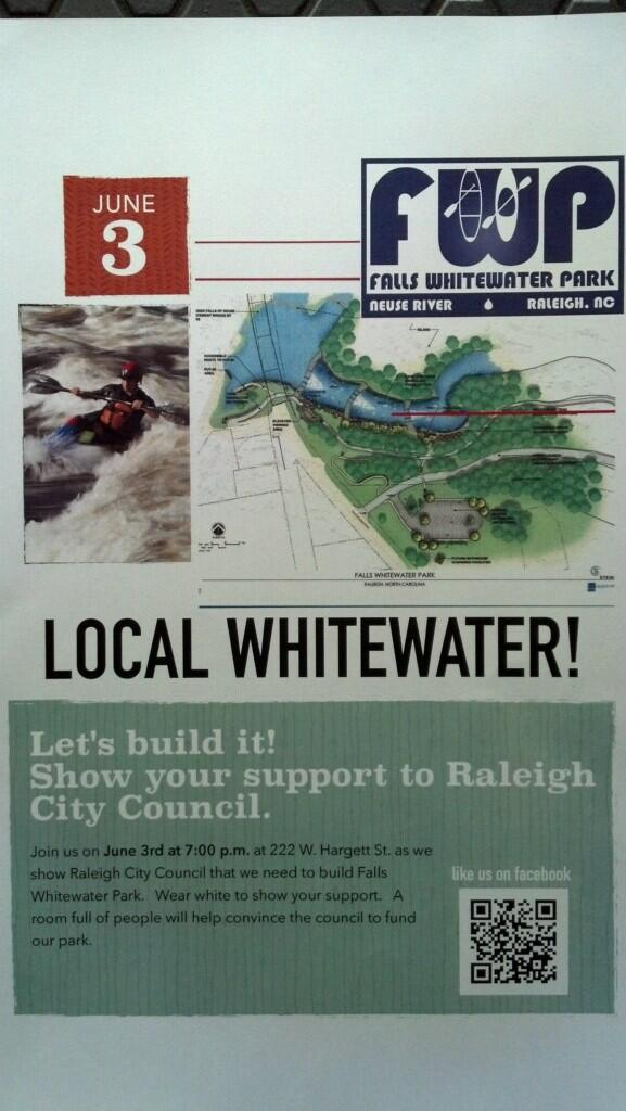 Anyone else in #Raleigh heard of the Falls Whitewater Park coming up for vote on 6/3? Looks pretty cool @NewRaleigh http://t.co/3F13Si9cxh