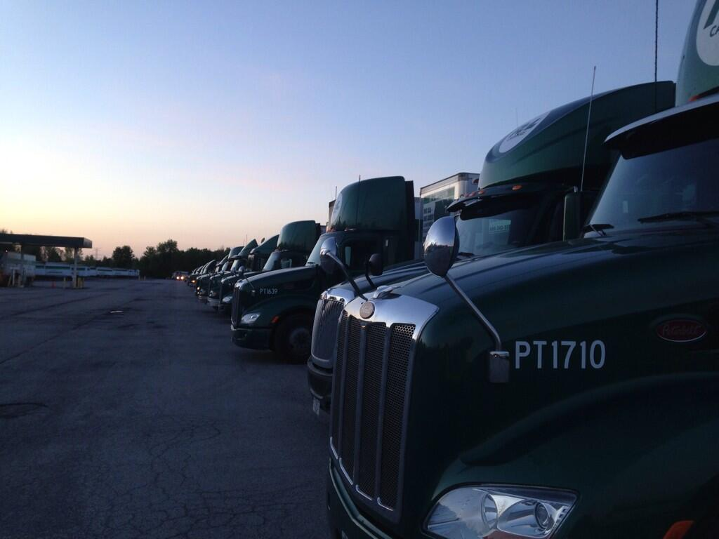 Twitter / mikethedriver: Last night #sunset @RLCarriers ...