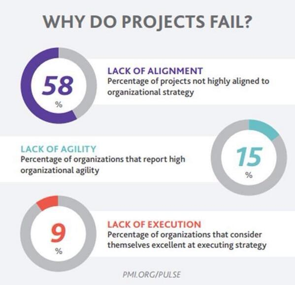 top 1 cause for project failure 1 top 10 reasons why systems projects fail learn from an experienced project manager how to avoid the common pitfalls that often lead to the failure of information systems projects.