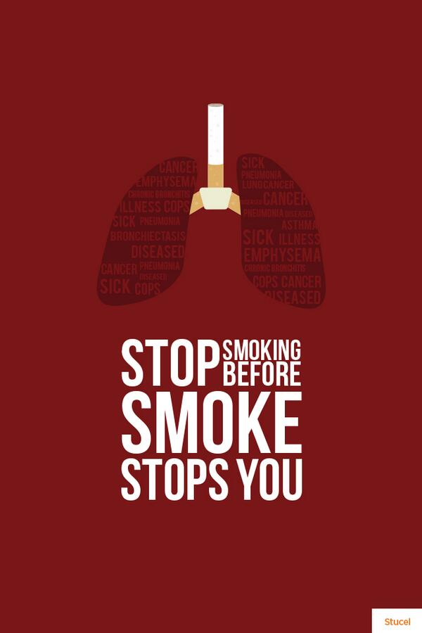Stucel on twitter stop smoking before smoking stops you - No smoking wallpaper download ...