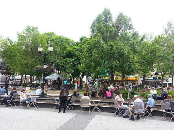 People outside at Gore Park