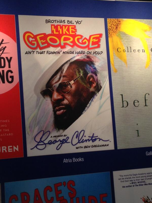 Our book shelf could use some funk-ifying! @george_clinton out this Fall! @AtriaBooks  #BEA14 http://t.co/PXwLr89kQI
