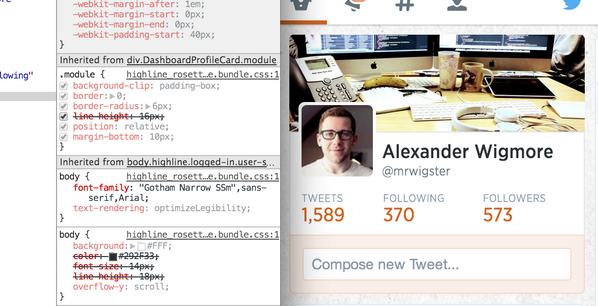 "Looks like Twitter are rolling out a new font? ""Gotham Narrow SSm"" @design http://t.co/zoHk4xaAwQ"
