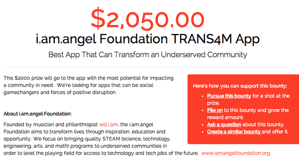 I just added $50 to @iamangelfdn's $2k #hackforla prize! Join me here:  https://t.co/y0EMecMHRm http://t.co/vmnFHEG04F