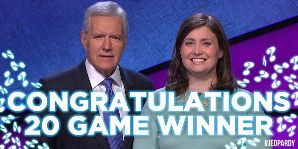 #JuliaCollins' win streak came to an end today. RT to congratulate her on being the #2 all-time #Jeopardy! winner. http://t.co/gUmrguDByx
