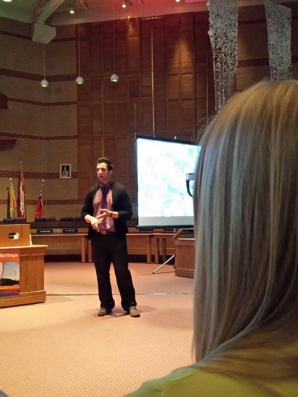 Intriguing key note speaker focusing on relationships - mental heaven listening to @gcouros @PeelSchools #eloGTA http://t.co/DWoV3p2kvy