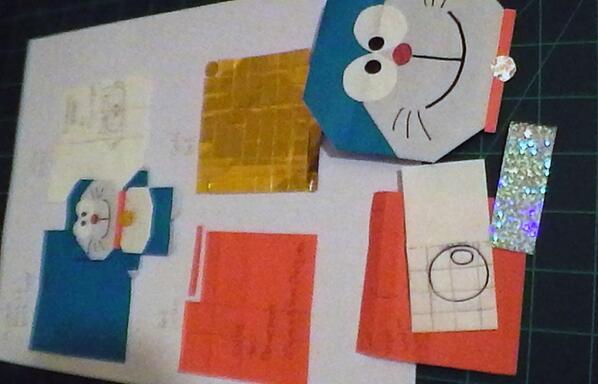 簡単 折り紙 折り紙 ドラえもん 折り方 : twitter.com