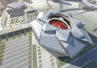 The city is set to break ground on the new stadium tonight, with NFL & MLS commissioners flying in for the ceremony. http://t.co/mmzhOsf2IF