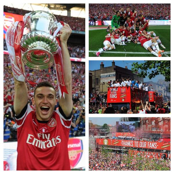 Unforgettable weekend! Thank you for all your support and for making it a big party #arsenal #facup http://t.co/mRhZQRJQXO