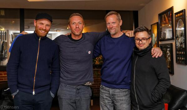".@coldplay's new album ""Ghost Stories"" is out! Mastered by Ted Jensen. Here's Ted with @Rikademus, Chris and Jonny. http://t.co/gzcg6dMK7O"