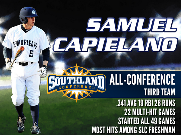 Congrats to Sammy Caps for making All-Southland! Led @SouthlandSports freshman in hitting this year! #UNOProud #NewO http://t.co/aXDd5HJm2i