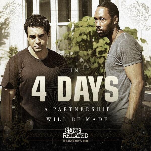Premiere THURS 9/8c @gangrelatedfox @hughes2society @rza #GangRelated #EmilioRivera #RamonRodriguez #TerryOQuinn #FOX http://t.co/DO0wt9JfZe