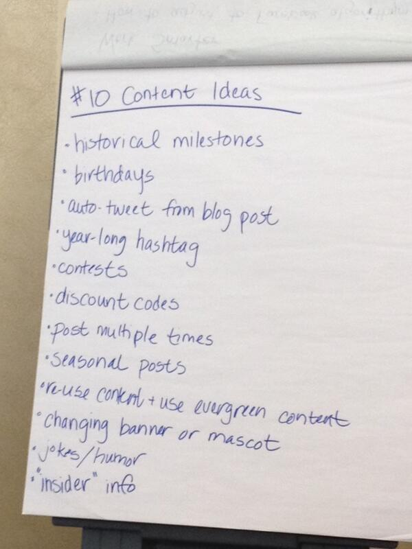 Some new content ideas from #amp14 pre-con workshop attendees. http://t.co/hEO2FWoBCY